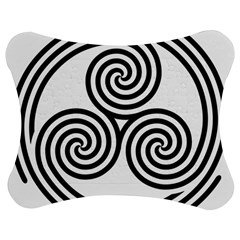 Triple Spiral Triskelion Black Jigsaw Puzzle Photo Stand (bow)