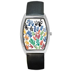 The Wreath Matisse Beauty Rainbow Color Sea Beach Barrel Style Metal Watch by Mariart