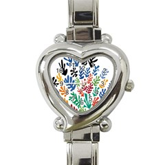 The Wreath Matisse Beauty Rainbow Color Sea Beach Heart Italian Charm Watch by Mariart