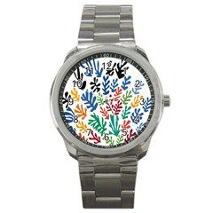 The Wreath Matisse Beauty Rainbow Color Sea Beach Sport Metal Watch by Mariart