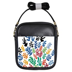 The Wreath Matisse Beauty Rainbow Color Sea Beach Girls Sling Bags by Mariart