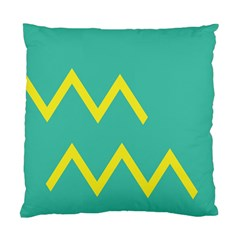 Waves Chevron Wave Green Yellow Sign Standard Cushion Case (two Sides) by Mariart