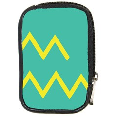 Waves Chevron Wave Green Yellow Sign Compact Camera Cases by Mariart