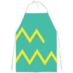 Waves Chevron Wave Green Yellow Sign Full Print Aprons