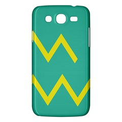 Waves Chevron Wave Green Yellow Sign Samsung Galaxy Mega 5 8 I9152 Hardshell Case  by Mariart