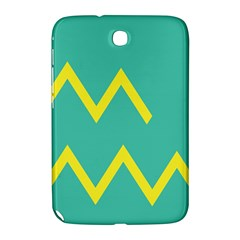 Waves Chevron Wave Green Yellow Sign Samsung Galaxy Note 8 0 N5100 Hardshell Case  by Mariart