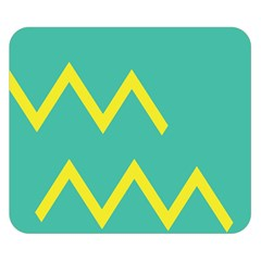 Waves Chevron Wave Green Yellow Sign Double Sided Flano Blanket (small)  by Mariart