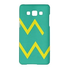 Waves Chevron Wave Green Yellow Sign Samsung Galaxy A5 Hardshell Case  by Mariart
