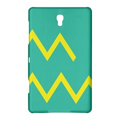 Waves Chevron Wave Green Yellow Sign Samsung Galaxy Tab S (8 4 ) Hardshell Case  by Mariart