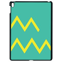 Waves Chevron Wave Green Yellow Sign Apple Ipad Pro 9 7   Black Seamless Case by Mariart