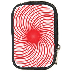 Spiral Red Polka Star Compact Camera Cases by Mariart