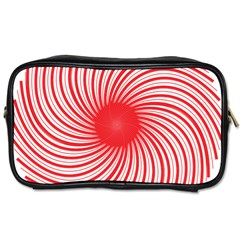 Spiral Red Polka Star Toiletries Bags 2 Side by Mariart