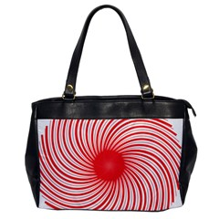 Spiral Red Polka Star Office Handbags by Mariart
