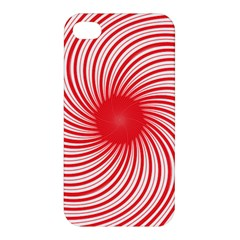 Spiral Red Polka Star Apple Iphone 4/4s Hardshell Case by Mariart