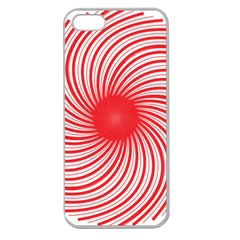 Spiral Red Polka Star Apple Seamless Iphone 5 Case (clear) by Mariart