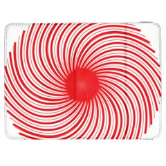 Spiral Red Polka Star Samsung Galaxy Tab 7  P1000 Flip Case by Mariart