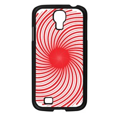 Spiral Red Polka Star Samsung Galaxy S4 I9500/ I9505 Case (black) by Mariart