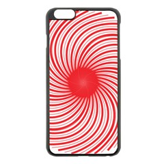 Spiral Red Polka Star Apple Iphone 6 Plus/6s Plus Black Enamel Case by Mariart