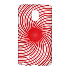 Spiral Red Polka Star Galaxy Note Edge by Mariart