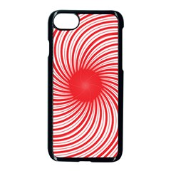 Spiral Red Polka Star Apple Iphone 7 Seamless Case (black) by Mariart