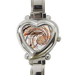 Splines Line Circle Brown Heart Italian Charm Watch by Mariart