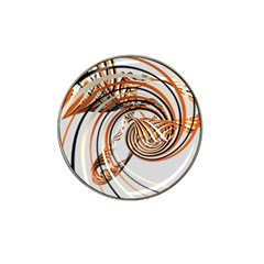 Splines Line Circle Brown Hat Clip Ball Marker by Mariart