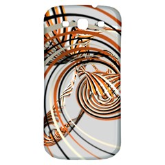Splines Line Circle Brown Samsung Galaxy S3 S Iii Classic Hardshell Back Case by Mariart