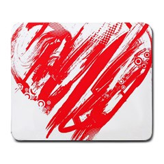 Valentines Day Heart Modern Red Polka Large Mousepads by Mariart