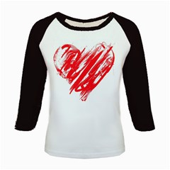 Valentines Day Heart Modern Red Polka Kids Baseball Jerseys by Mariart