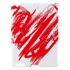 Valentines Day Heart Modern Red Polka Apple Ipad 3/4 Hardshell Case (compatible With Smart Cover) by Mariart
