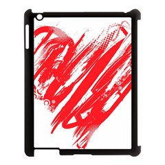 Valentines Day Heart Modern Red Polka Apple Ipad 3/4 Case (black) by Mariart