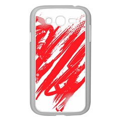 Valentines Day Heart Modern Red Polka Samsung Galaxy Grand Duos I9082 Case (white)