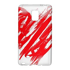 Valentines Day Heart Modern Red Polka Galaxy Note Edge by Mariart