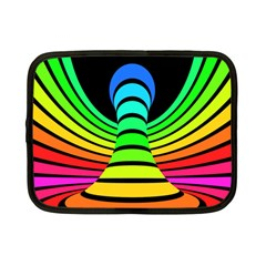 Twisted Motion Rainbow Colors Line Wave Chevron Waves Netbook Case (small)  by Mariart