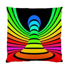 Twisted Motion Rainbow Colors Line Wave Chevron Waves Standard Cushion Case (two Sides)