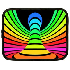 Twisted Motion Rainbow Colors Line Wave Chevron Waves Netbook Case (xl)  by Mariart