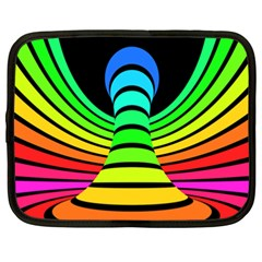 Twisted Motion Rainbow Colors Line Wave Chevron Waves Netbook Case (xxl)  by Mariart
