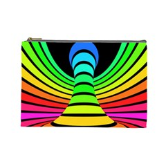 Twisted Motion Rainbow Colors Line Wave Chevron Waves Cosmetic Bag (large)  by Mariart