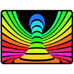 Twisted Motion Rainbow Colors Line Wave Chevron Waves Fleece Blanket (large)  by Mariart