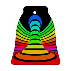 Twisted Motion Rainbow Colors Line Wave Chevron Waves Bell Ornament (two Sides)