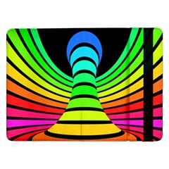 Twisted Motion Rainbow Colors Line Wave Chevron Waves Samsung Galaxy Tab Pro 12 2  Flip Case