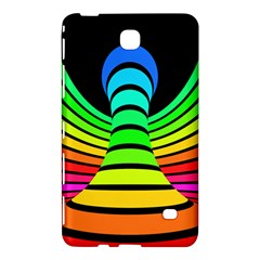 Twisted Motion Rainbow Colors Line Wave Chevron Waves Samsung Galaxy Tab 4 (7 ) Hardshell Case