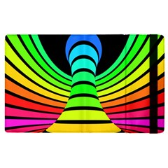 Twisted Motion Rainbow Colors Line Wave Chevron Waves Apple Ipad Pro 9 7   Flip Case by Mariart