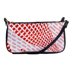 Waves Wave Learning Connection Polka Red Pink Chevron Shoulder Clutch Bags by Mariart