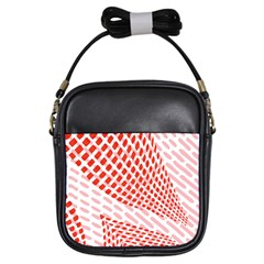 Waves Wave Learning Connection Polka Red Pink Chevron Girls Sling Bags by Mariart