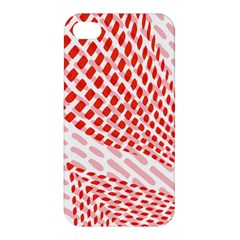 Waves Wave Learning Connection Polka Red Pink Chevron Apple Iphone 4/4s Hardshell Case by Mariart
