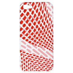 Waves Wave Learning Connection Polka Red Pink Chevron Apple Iphone 5 Hardshell Case by Mariart