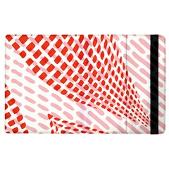 Waves Wave Learning Connection Polka Red Pink Chevron Apple Ipad 2 Flip Case by Mariart