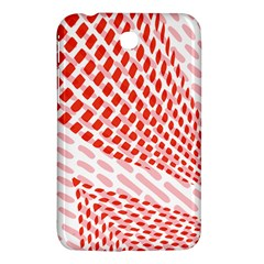 Waves Wave Learning Connection Polka Red Pink Chevron Samsung Galaxy Tab 3 (7 ) P3200 Hardshell Case  by Mariart