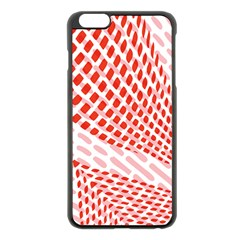 Waves Wave Learning Connection Polka Red Pink Chevron Apple Iphone 6 Plus/6s Plus Black Enamel Case by Mariart
